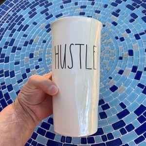 """Rae Dunn """"HUSTLE"""" Large Lettering Travel Mug"""